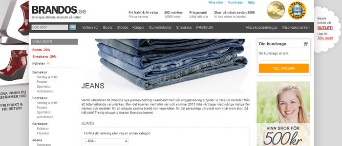 Brandos breddar med jeans i väntan på börsen