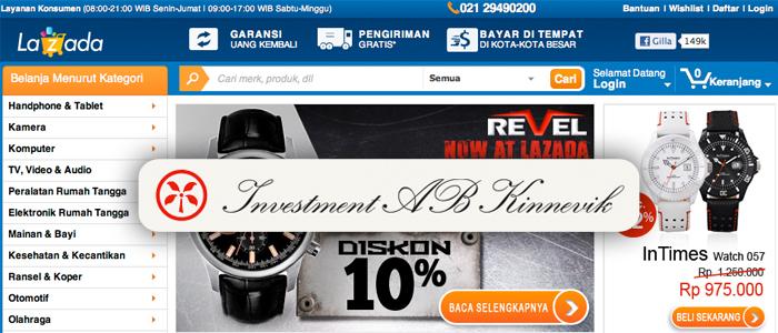 Kinnevik investerar i Asienbaserat Amazon