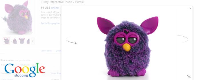 Google vill visa alla produkter som 3D-bilder