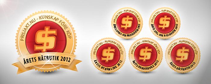Dags att rösta fram Årets nätbutik 2012 hos Prisjakt