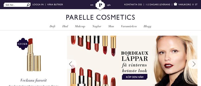 Parelle Cosmetics lanserar nätbutik för beauty junkies