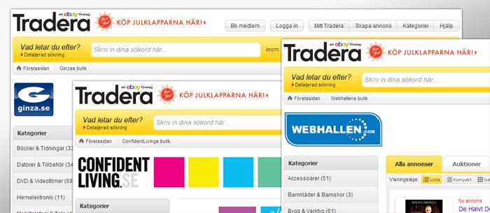 Allt fler kompletterar sin E-handel med Tradera