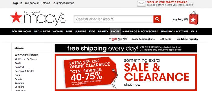 Macys E-handel ger lägre lön till de anställda
