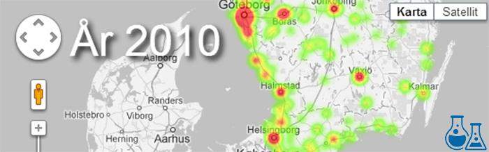 Den svenska e-handelns uppväxt visualiserad