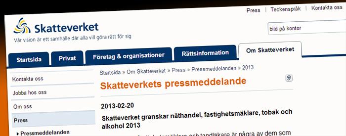 Skatteverket kommer granska E-handeln i år