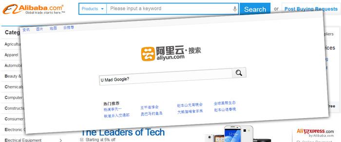 Alibaba lanserar egen sök och kopierar Android