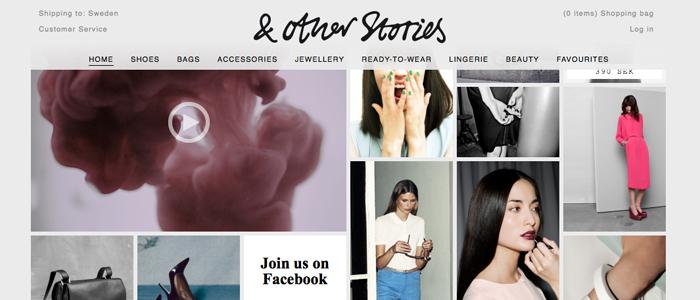 H&M-ägda & Other Stories lanserar sin nya E-handel