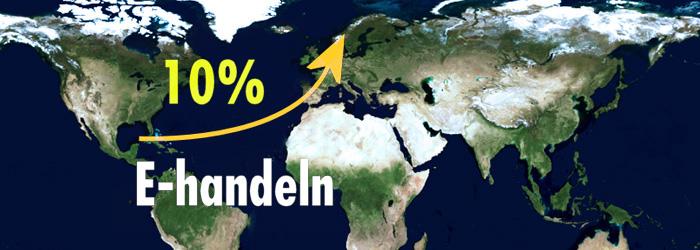 Europas E-handel ökar med 10 procent årligen till 2017