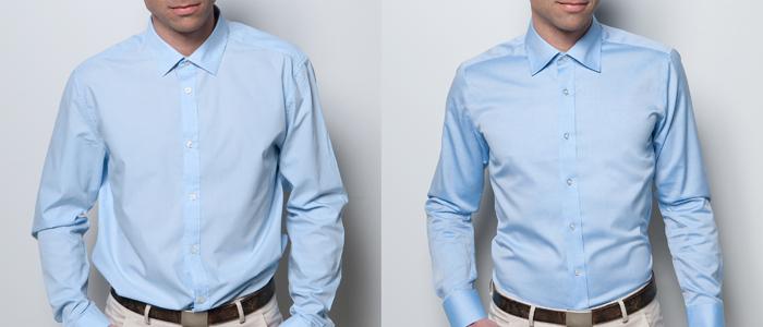 Standardstorlekar kostar skjortan för E-handeln