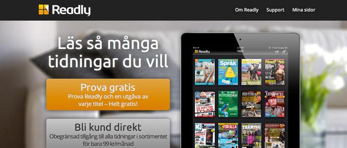 Svenska Readly vill bli ett Spotify för tidskrifter