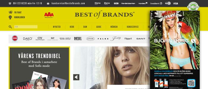 Best of Brands satsar på mobil handel i tryckt media