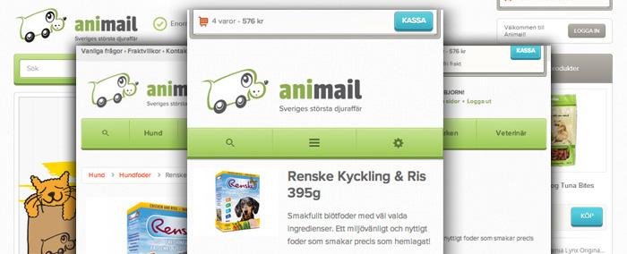 Skippa den mobila butiken uppmanar Animail