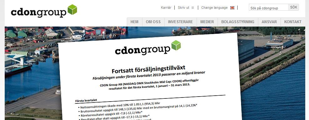 CDON Group omsätter en miljard, ber om en halv