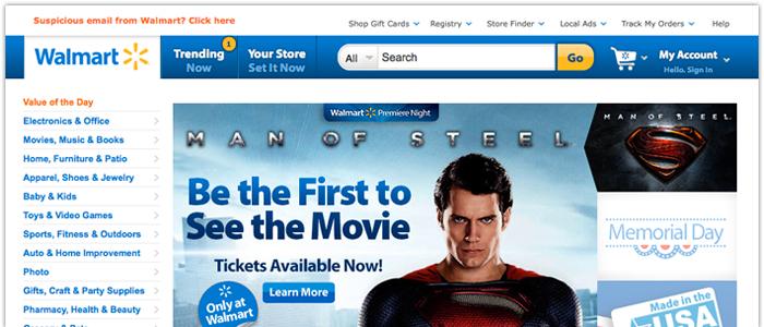 Walmart missade prognos men E-handeln levererar
