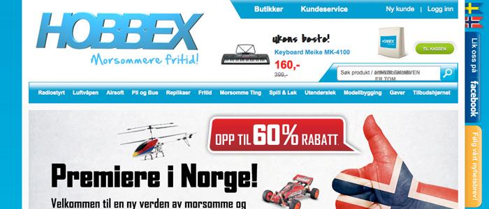 Svenskt hobbyföretag lanserar norsk e-handel