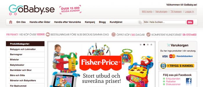 Mediekoncern köper upp E-handelsföretaget GoBaby
