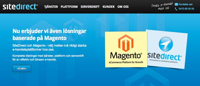 SiteDirect kompletterar med öppen plattform