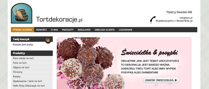 SkickaTårta har lanserat sin kalasidé i Polen