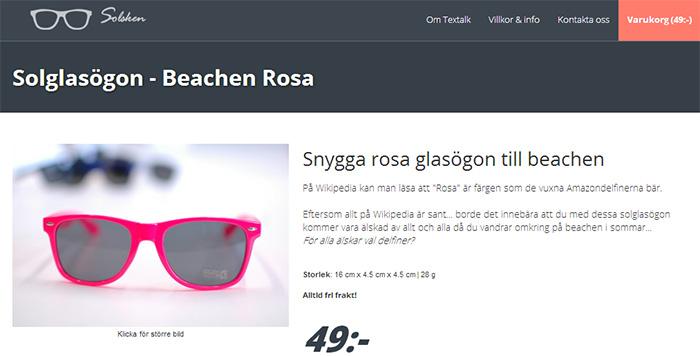 E-handelsleverantör börjar sälja glasögon på nätet