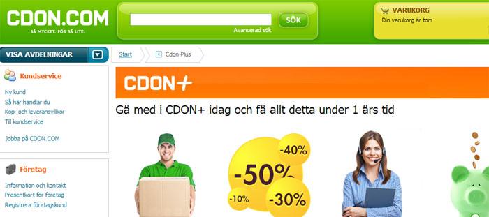 CDON.com lanserar medlemskap med fri frakt