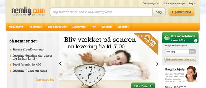 Dansken allt gladare för att köpa sin mat på nätet