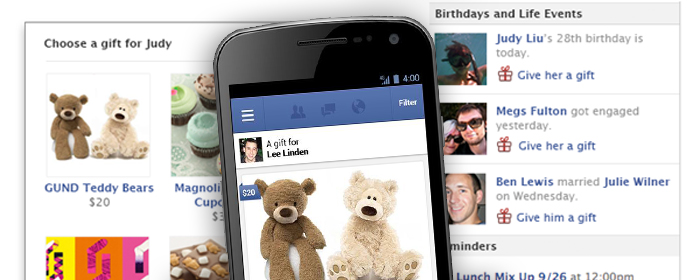 Facebook slutar sälja fysiska presenter