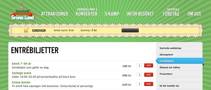 E-biljetter är framtiden och Gröna Lund är redan där