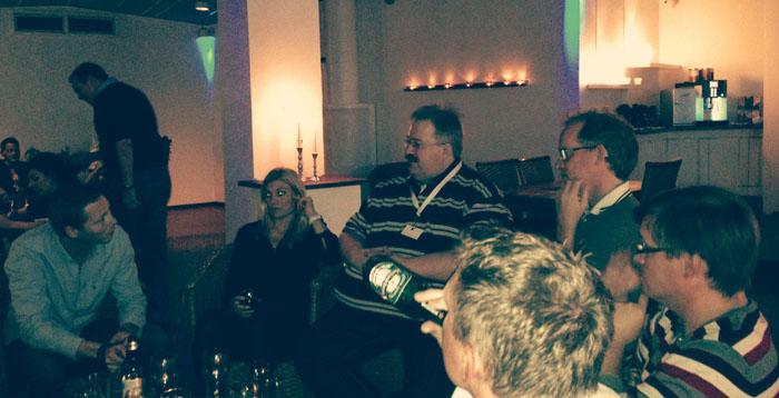 Katrin Lundgren återger E-handlarnas firmafest