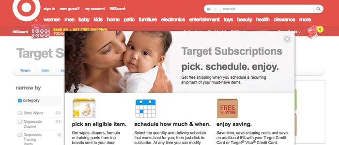 Target siktar in sig på föräldrar med ny tjänst