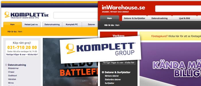 Komplett slår samman nätbutiker i Sverige