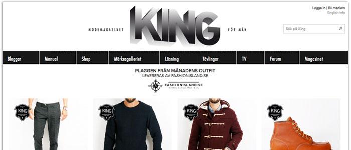 Modemagasinet King startar butik på nätet