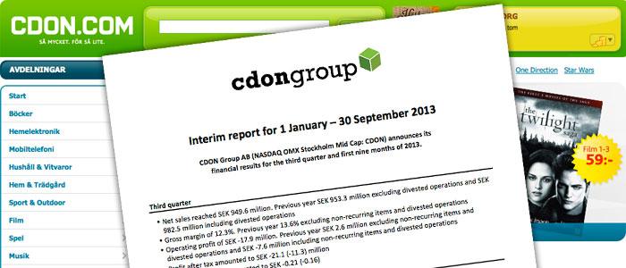 Omsättningen minskar och förlusterna ökar för CDON