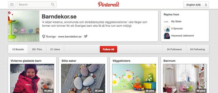 Pinterest lockar allt fler användare i Sverige