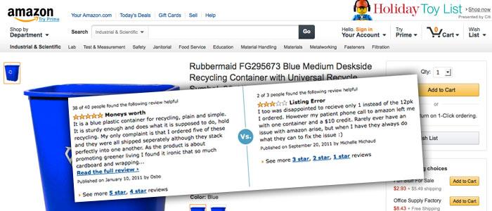 Amazon ger bort produkter i utbyte mot recensioner