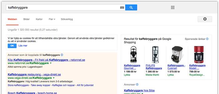 Nu har Google Shopping lanserats i Sverige