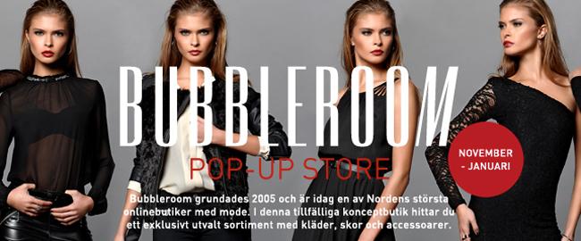 skönhet elegant många fashionabla Bubbleroom öppnar fysisk vinterbutik i Malmö - Ehandel