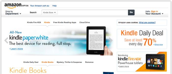 Amazon lanserar Kindle Store i Australien