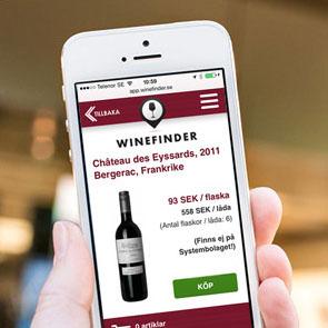 Winefinder satsar på Appar