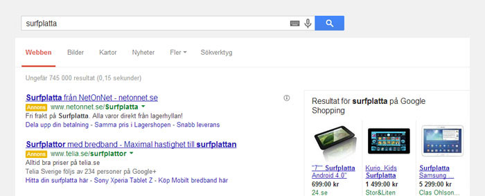 Google Shopping kan vara en julklapp till E-handlare