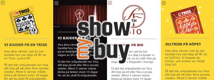 Showmybuy lockar fram delningar med Biobiljetter