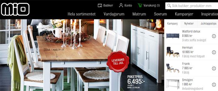 Mios handlardrivna webbutik har nu lanserats