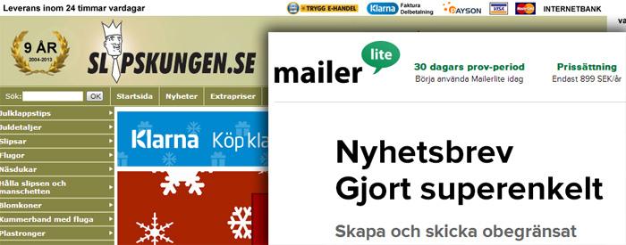 Slipskungen och Mailerlite i julspamhärva