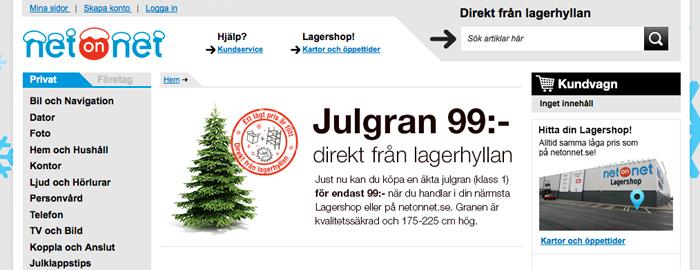 Köp din julgran på nätet med fri hemleverans
