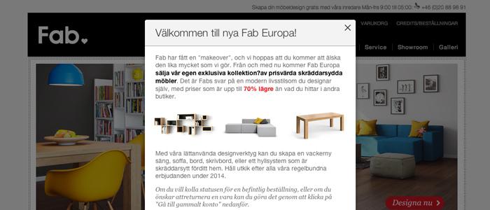 Fab slimmar verksamheten och fokuserar på möbler