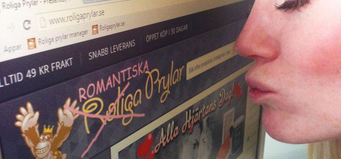 Nätbutik uppvaktar kunder med romantiskt namnbyte