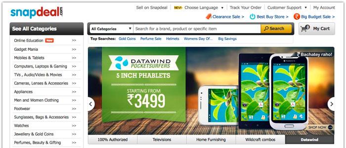 Ebay satsar stort på Indien och E-handlaren Snapdeal