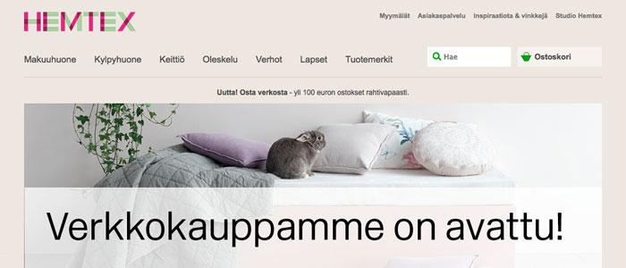 Hemtex lanserar E-handel för den finska marknaden