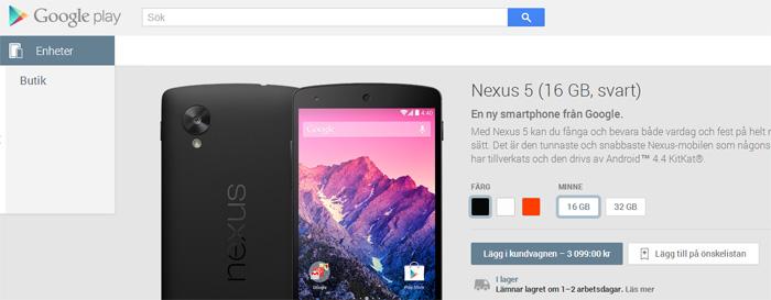 Google öppnar svensk E-handel med fysiska varor