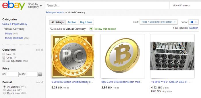 Ebay öppnar för handel med virtuella valutor