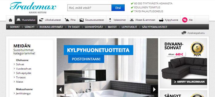 Möbelhandlare tar sikte på Finland med lokal sajt